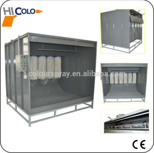 open face powder coating spray booth