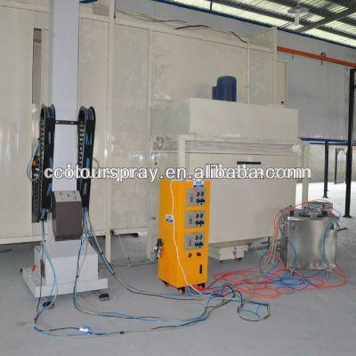 automatic powder coating spray booth