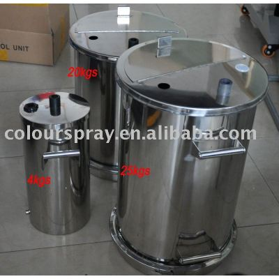 powder container (powder coating spraying machine spare parts)