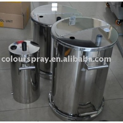 different type powder container