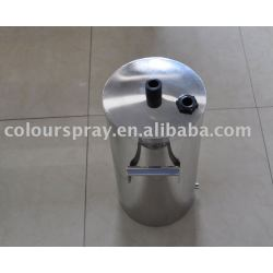 10lb Stainless steel fluidizing Powder container used for powder coating machine