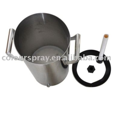 10lb Stainless steel fluidizing Powder hopper used for powder coating machine