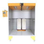 Small scale metal powder coating spray booth