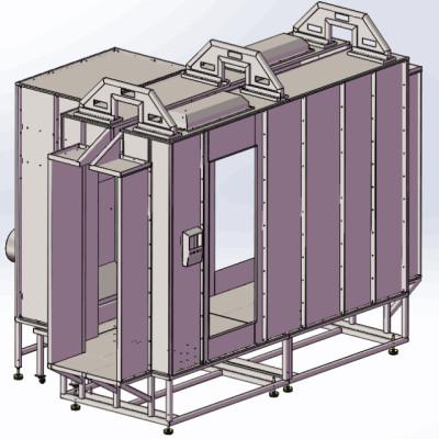 conveyorized powder spray booth