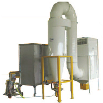 Mono-cyclone+ after filters recovery system powder coating spray booth