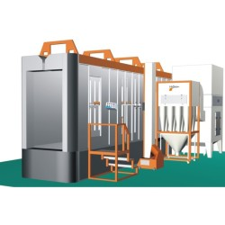 electrostatic  powder recovery booth