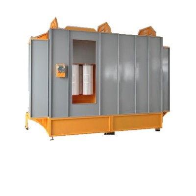 Easy to change color powder paint booth