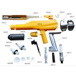 Manual powder coating gun