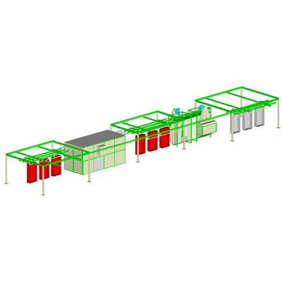 Upper transmission system powder coating plant
