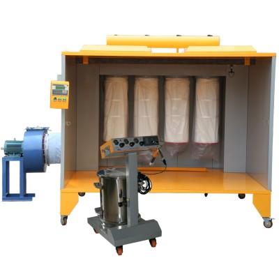 electrostatic manual powder spray booth with powder spray gun