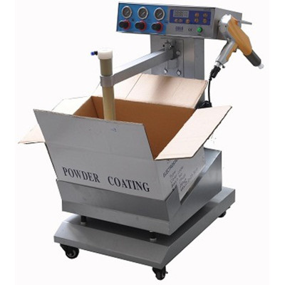 Box feed vibrating powder spraying machine for fast color change