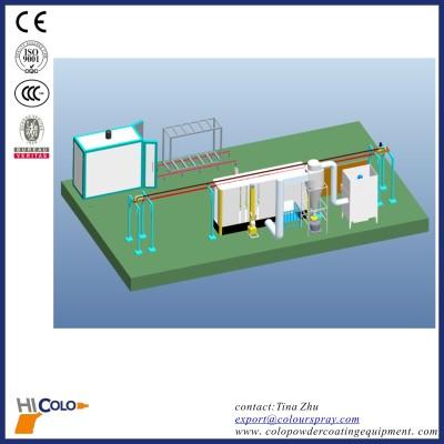 Automated Overhead Conveyor aluminum profile powder coating line