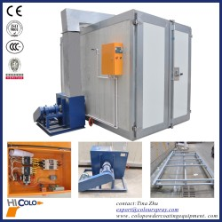 two doors Indirect fired Gas Powder coating oven/Powder curing oven