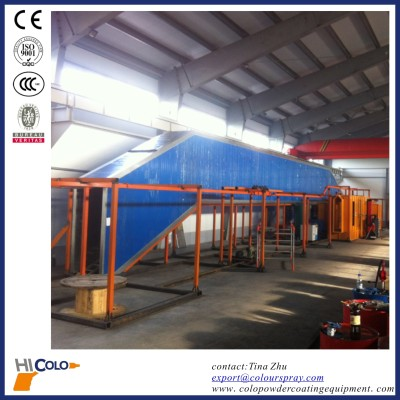 automatic powder coating plant for guardrail or fence