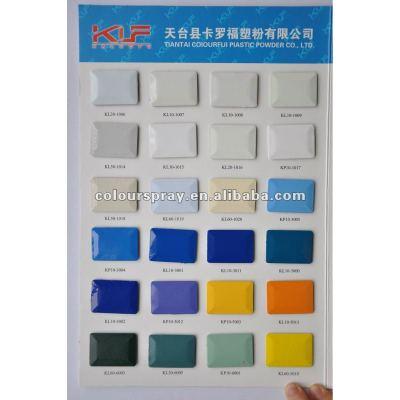 Electrostatic plastic powder coating
