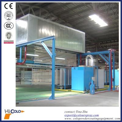 automatic powder coating plant for aluminium profile
