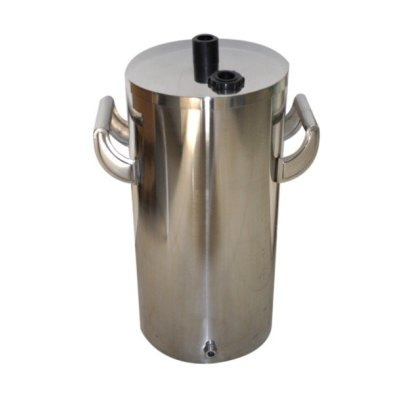 Stainless steel small fluidizing powder container