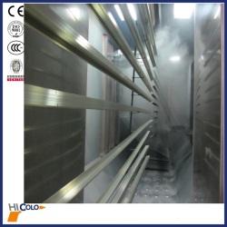 6.5 meter full automatic aluminium profile powder spray plant