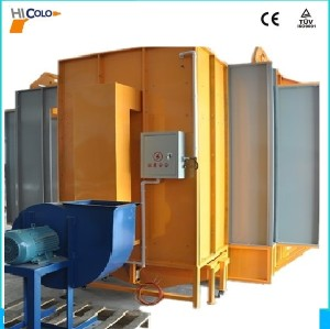 Walk through powder spray booth for powder coating line