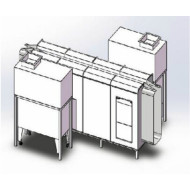 Powder spray booth and cabinet