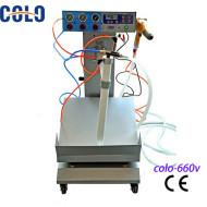 Manual electrostatic box feed Powder coating machine price in China