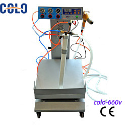 Manual electrostatic box feed Powder coating machine price in China