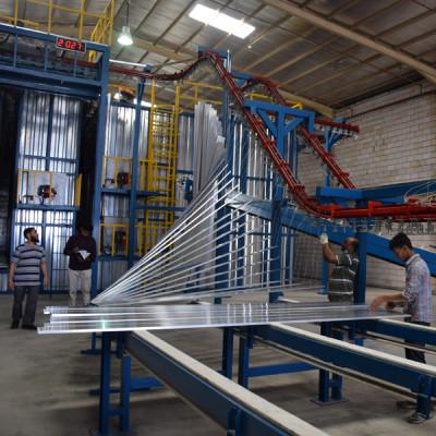 Vertical Automatic powder coating plant for aluminium profile