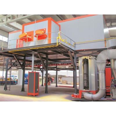 compact powder coating plant for aluminium profile