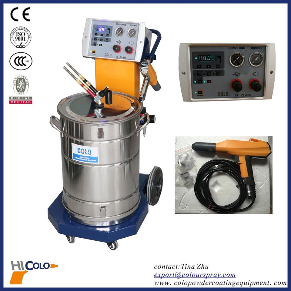 Colo 668 Powder Coating Equipment China Manual Powder