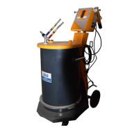 Manual powder painting gun for metal surface treatment