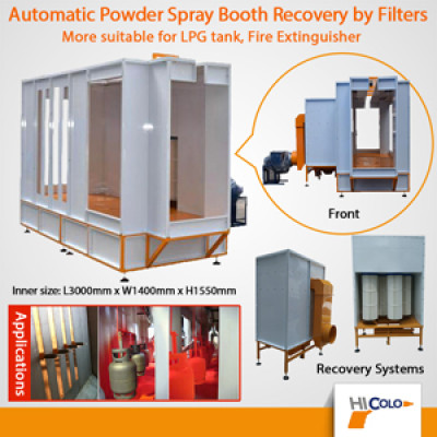 COLO-S-3145 Pass-through type powder paint spray booth with cartridge filters