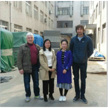 Clients from Russia visit our factory for powder application equipment