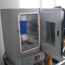 Lab powder coating curing oven