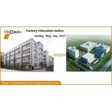 Factory relocation notice