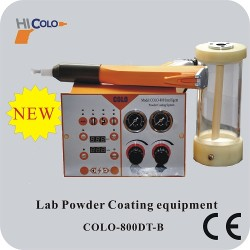 colo testing manual powder coating spray gun with small hopper