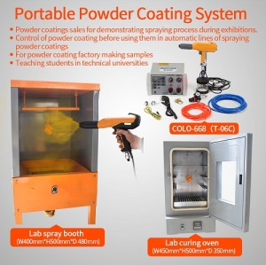 Small Production Manual Powder Coating System