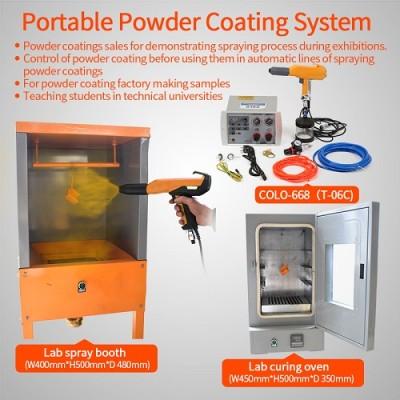 Small Production Manual Powder Coating System