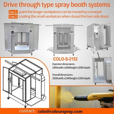COLO-S-2152 powder coating paint room