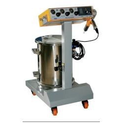Sistema aplicador electroestático de pintura termo convertible
