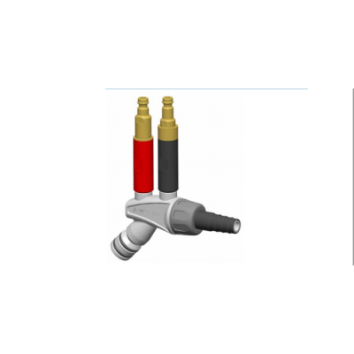 Powder injector 1007 780 with coded quick release connections
