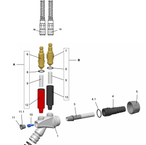 Durable Powder injector 1007 780 for GM03 manual gun