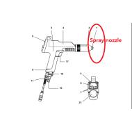 Manual powder coating gun Round jet nozzle set 382922