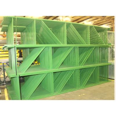 Industrial electrostatic powder coating plant for storage rack