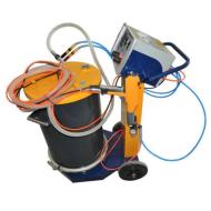 Electrostatic new compact design powder coating system
