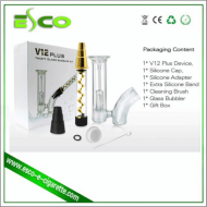 China electronic cigarette v12 plus twisty glass blunt bubbler kit v12 mini twisty