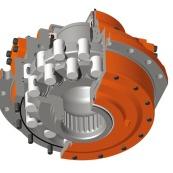 haute vitesse du moteur à piston intérieure courbe hydraulique