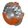 alta velocidad interior curva motor hidráulico de pistones