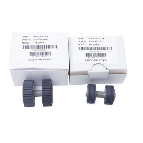 PA03540-0001 PA03540-0002 for Fujitsu  Fi-6130 6240 Fi-6125 Scanner Roller