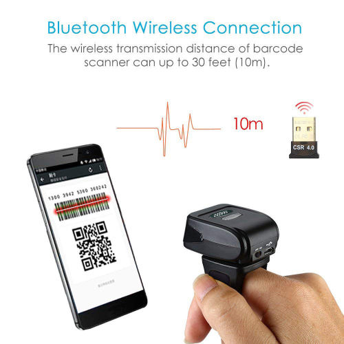 YZ1801 Portable Scanner Wearable Ring Bluetooth 1D Mini Barcode Scanner