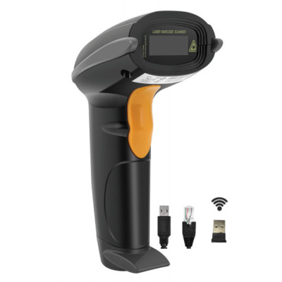 Yanzeo W6811 Wireless 2.4G Handheld  USB 1D Laser Barcode Scanner Reader for POS System